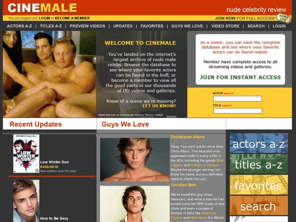 Cinemale Signup