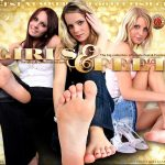 Girls And Feet Join With Phone