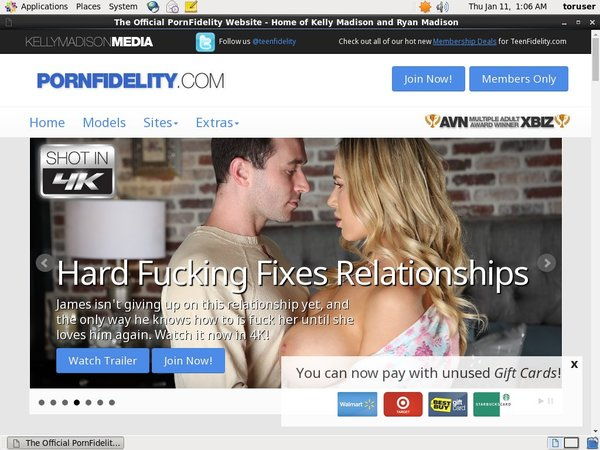Porn Fidelity Payment Page