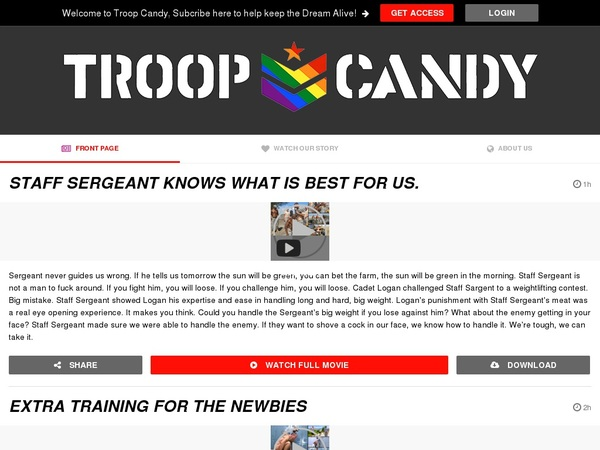 Troop Candy Paypal Payment