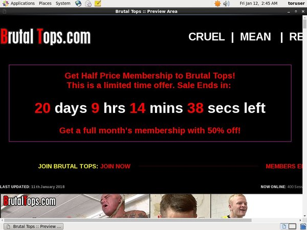 Membership For Brutal Tops