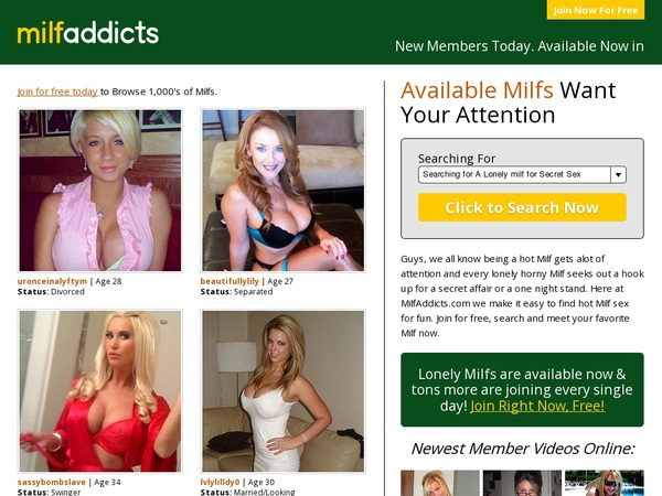 Milfaddicts.com Paypal Access