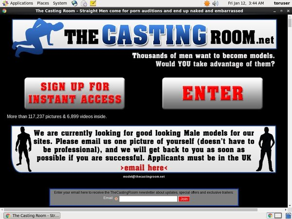 Working The Casting Room Pass